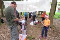 Dětská liga Táborska tuto sobotu pořádala již třetí ročník orientačního závodu vlese kolem Plánských pískoven.