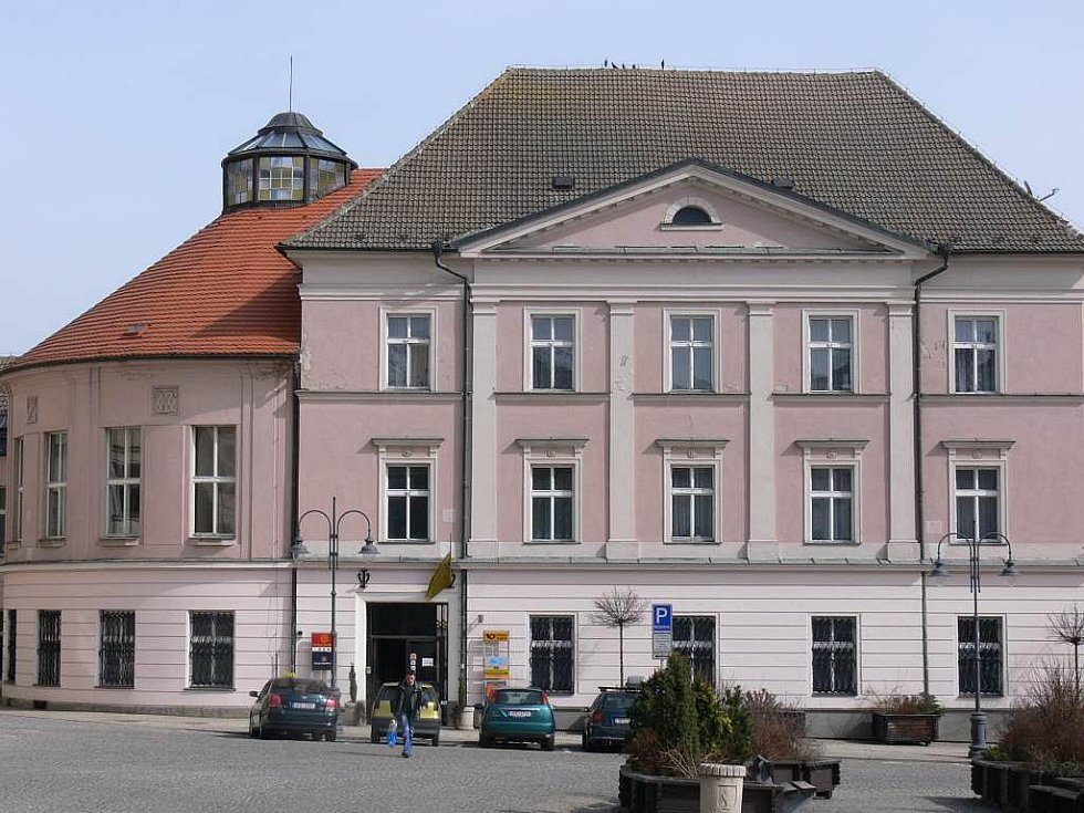 Pošta na Žižkově náměstí.