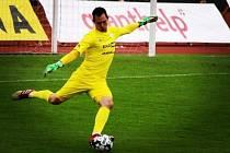 Brankář Táborska Matej Slávik prožíval v posledních dvou utkáních se svými spoluhráči smutné chvíle.