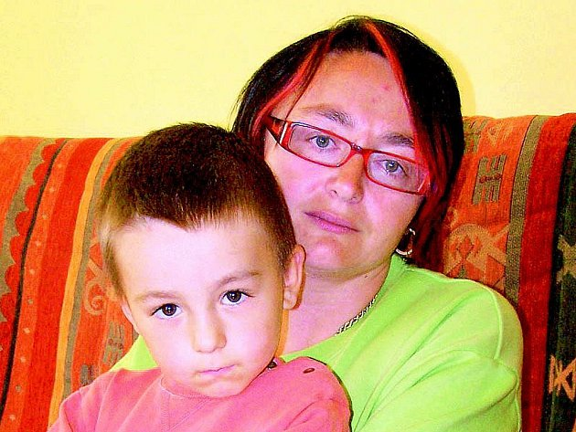 Malý Adámek s maminkou