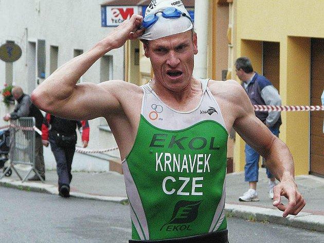 Několikanásobný vítěz Táborského triatlonu Martin Krňávek tentokrát závod nedokončil.