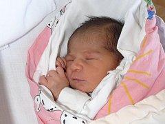 NIKOLA KUŽELKOVÁ Z VESELÍ NAD LUŽNICÍ. Narodila se jako třetí dítě v rodině 13. února v 5.25 hodin. Vážila 2930 g, měřila 46 cm a doma na ni čeká desetiletá sestřička Kačenka spolu s dvouletým bráškou Ládíkem.