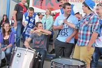 Fandové Táborska byli před zápasem v optimistické náladě.