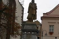 Socha Jana Žižky v Táboře.