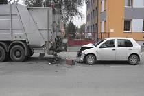 Vážná dopravní nehoda se stala na třídě Čs. armády ve Veselí nad Lužnicí.
