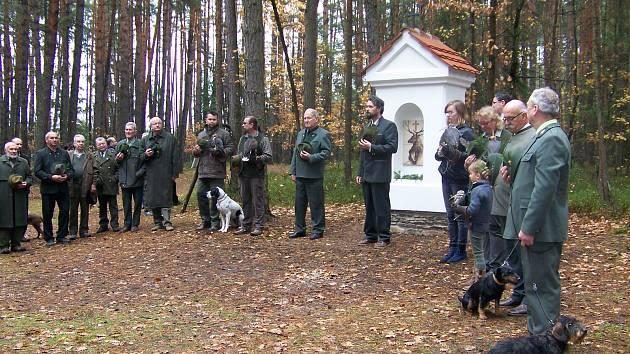 Svatý Hubert má od soboty na Táborsku svou první kapličku.