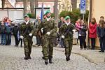 V Bechyni se v pondělí 11. listopadu konal u památníku padlých pietní akt spojený se Dnem veteránů.