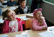 První školní den na ZŠ Zborovská v Táboře.