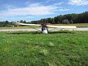 Pád ultralehkého letadla u Hodonic.