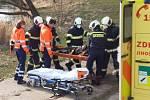 K zásahu k jezu na řece Lužnici vyrazili jak táborští profesionální hasiči tak dobrovolní hasiči z Plané nad Lužnicí.