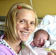 ZUZANA JURČOVÁ ZE SUDOMĚŘIC U BECHYNĚ. Narodila se 22. září v 0.19 hodin. Vážila 2840 g, měřila 48 cm a má brášku Vítka (2).