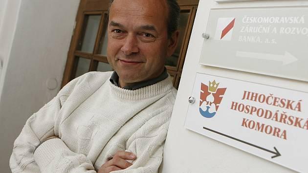 Ředitel úřadu Jihočeské hospodářské komory Jiří Stráský.
