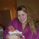 Lucie Švadlenová z Větrov. Na svět přišla 22. ledna v 15.49 hodin s váhou 2980 gramů a mírou 49 cm. Je druhým dítětem v rodině, už má doma  brášku Jeníčka (20 měsíců).