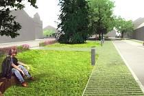 BUDOUCÍ podoba náměstí v Nadějkově.