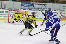 Utkání 8. kola II. ligy: HC Tábor - Kobra Praha 6:5 po nájezdech.