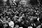 Sametová revoluce v Táboře.