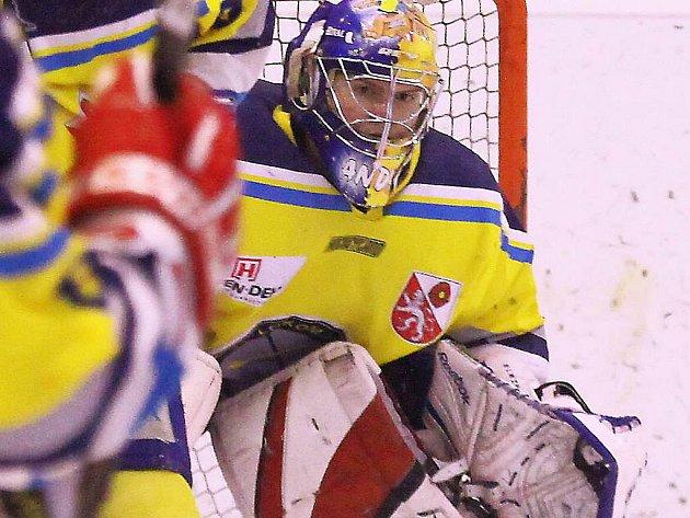 Veselští hokejisté hodně spoléhají na výkony brankáře Jiřího Anderleho.