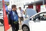 Během pondělního odpoledne mohli návštěvníci táborského náměstí TGM zhlédnout hned několik druhů a prostředků alternativní dopravy.