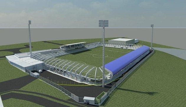 Tak by měl vypadat nový fotbalový stadion v Táboře.