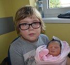 Viktorie Zachová z Plané nad Lužnicí.  Narodila se 25. července sedm minut po osmé hodině. Vážila 3200 gramů, měřila 49 cm a má sestřičku Rózu, které je  devět let.