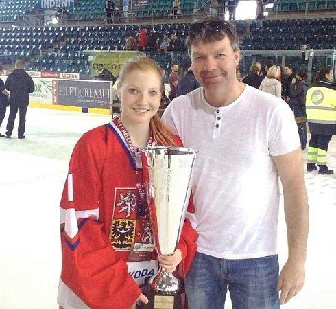 Kristýna se svým otcem.