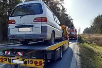 Táborská jednotka profesionálních hasičů v pondělí 23. března zasahovala u nehody, která se stala na silnici I/19 před 15. hodinou.