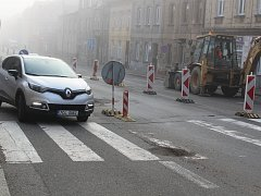 Na Budějovické ulici se pracuje.