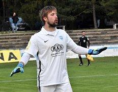 Brankářská opora FC MAS Táborsko Michal Toma.