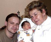 JULIE KALITOVÁ Z TÁBORA. Narodila  26. prosince ve 20.46 hodin. Vážila 3680 g, měřila 51 cm a radost z ní mají jak  rodiče, tak i babička.