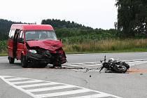 Tragická dopravní nehoda mezi obcemi Lejčkov a Obrataň