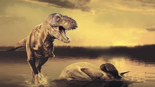 Tyrannosaurus Rex na jednom z obrazů celosvětově proslulého malíře.