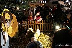 Rozsvěcení vánočního stromu v Táboře.
