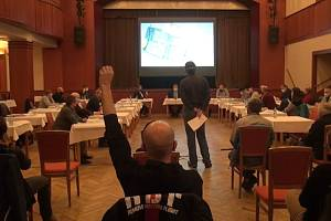 Jednání soběslavský zastupitelů a prezentace přepracovaného projektu průmyslové zóny.