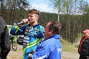 Mistr Evropy ve freestyle motokrosu Petr Pilát předvedl své umění nadšenému publiku ve Stříbře.