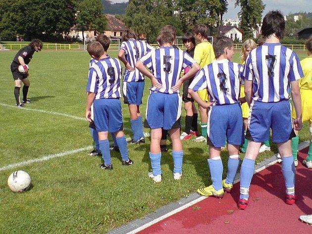 Náš zástupce ve fotbalové divizi žáků přijel z jihu Čech bez bodového zisku