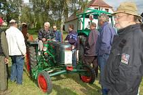 Josef Kortan z Boru přijel na slet traktorů s renovovaným strojem značky Fendt