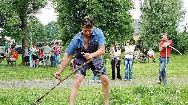 Štefan Mucha, přestože neobsadil příčky vítězů, si s kosou rozumněl a jeho výkon byl velice dobrý