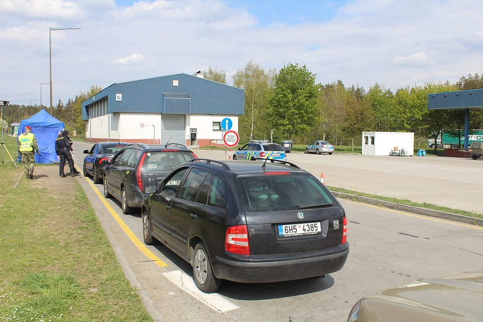Na hraničním přechodu v Rozvadově.