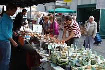 FARMÁŘSKÉ TRHY ve Stříbře nabízely včera maso, zeleninu, ovoce, rybí produkty, mléčné výrobky i bylinky, čaje a koření.