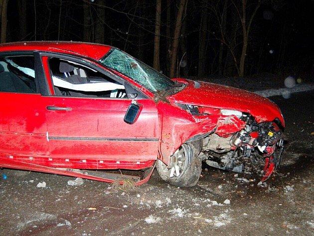 Mladý řidič už do cíle nedojel