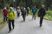 """V rámci akcí """"Pojďte s námi do přírody"""" se konala další vycházka, tentokrát zavedla účastníky k opevnění Ippen a na zemskou hranici."""