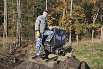 Nově je vozík umístěn v lokalitě Jirná u příjezdu z dálnice D5.