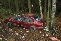Vážná dopravní nehoda se stala ve čtvrtek kolem druhé hodiny odpolední mezi Novým Sedlištěm a křižovatkou na Labuť a Mchov.