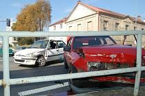 Nehoda dvou osobních vozidel na světelné křižovatce v Tachově