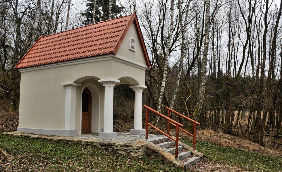 Obnovená kaple v Železné Huti