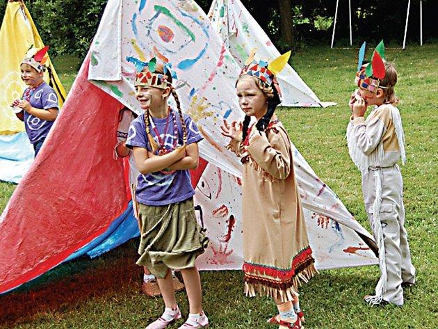 Indiánské léto byl název projektu, který posloužil k rozlučce s dětmi z Mateřské školy v Tyršově ulici v Tachově