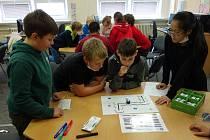 Starší děti připravily pro ty mladší program v rámci Erasmus Days.