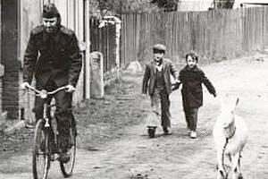 Plánské děti na snímku již dospěly, ale na natáčení před třiceti lety nezapomínají.