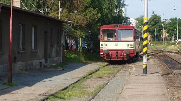 Tachovské nádraží bylo v době stávky liduprázdné.