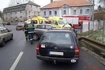 Středeční odpolední nehoda si podle policie vyžádala jedno zranění.
